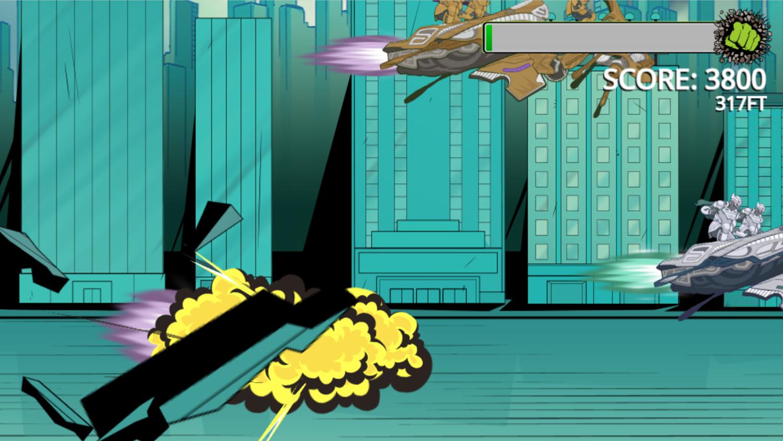 Incredible Hulk Chitauri Takedown Game Ending Smash Screenshot.