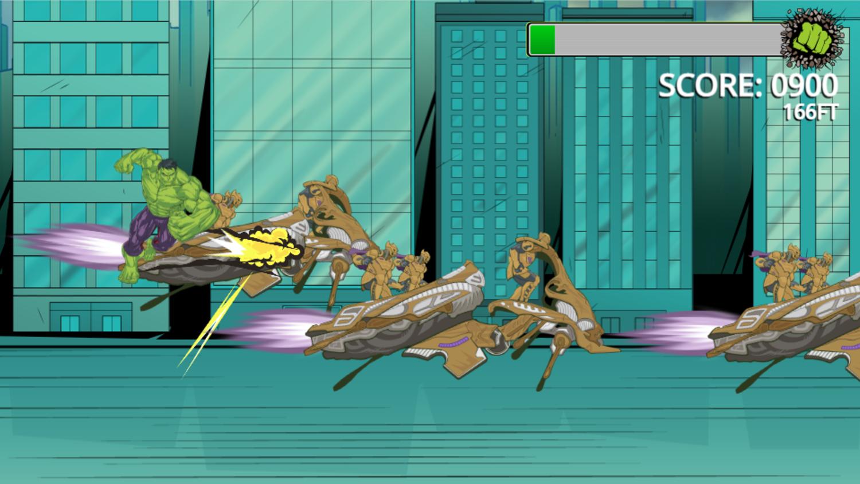 Incredible Hulk Chitauri Takedown Game Screenshot.
