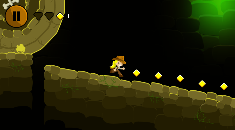Indiara and the Skull Gold Game Screenshot.