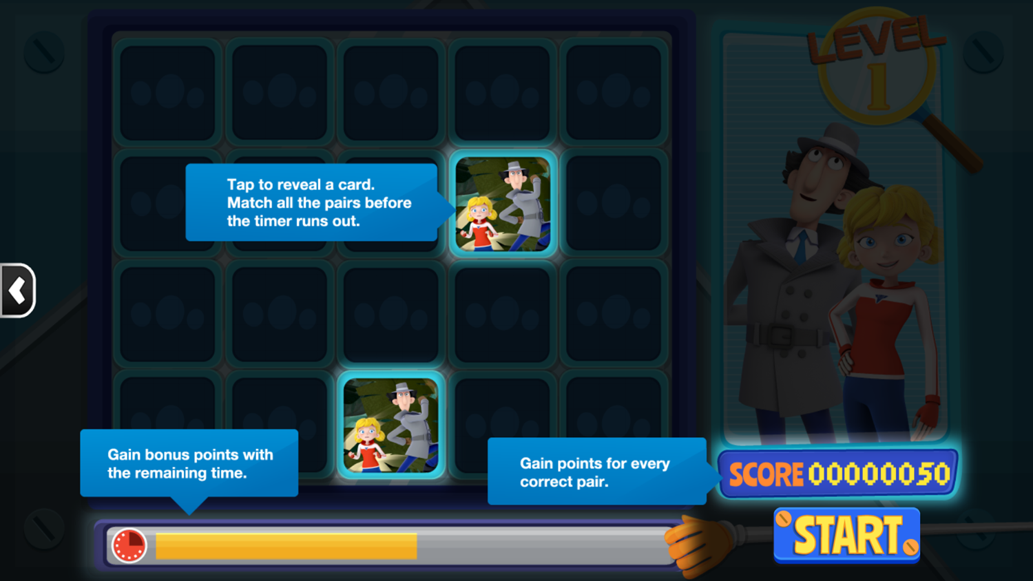 Inspector Gadget Let's Inspect Game How To Play Screenshot.