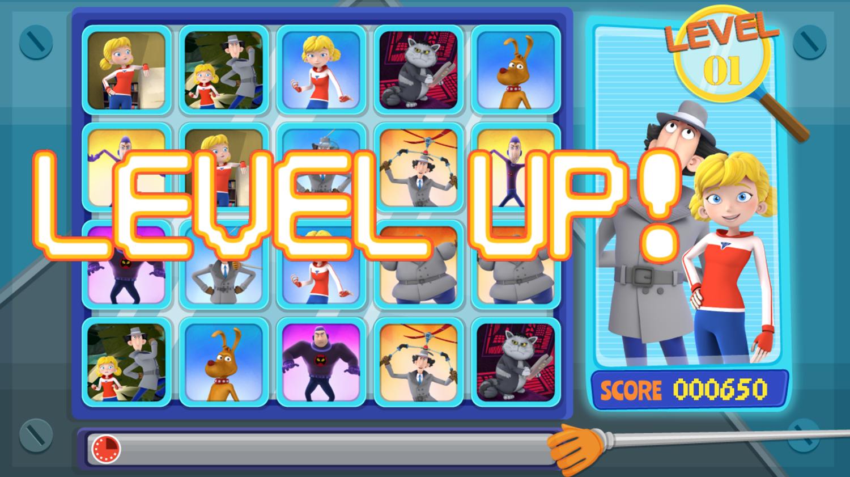 Inspector Gadget Let's Inspect Game Level Up Screenshot.