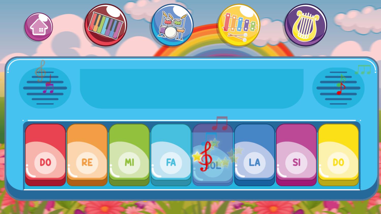 Instruments for Kids Basic Piano Keys Screenshot.