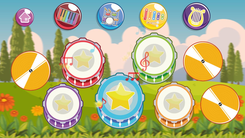 Instruments for Kids Drum Set Screenshot.