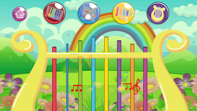 Instruments for Kids Lyre Screenshot.