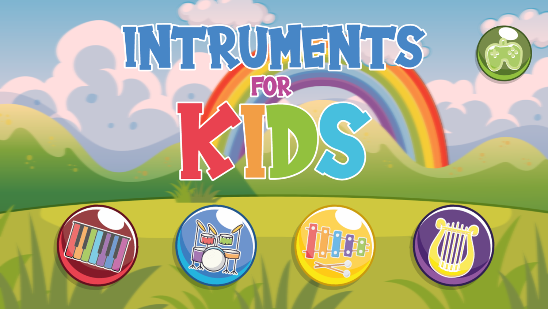 Instruments for Kids Welcome Screen Screenshot.