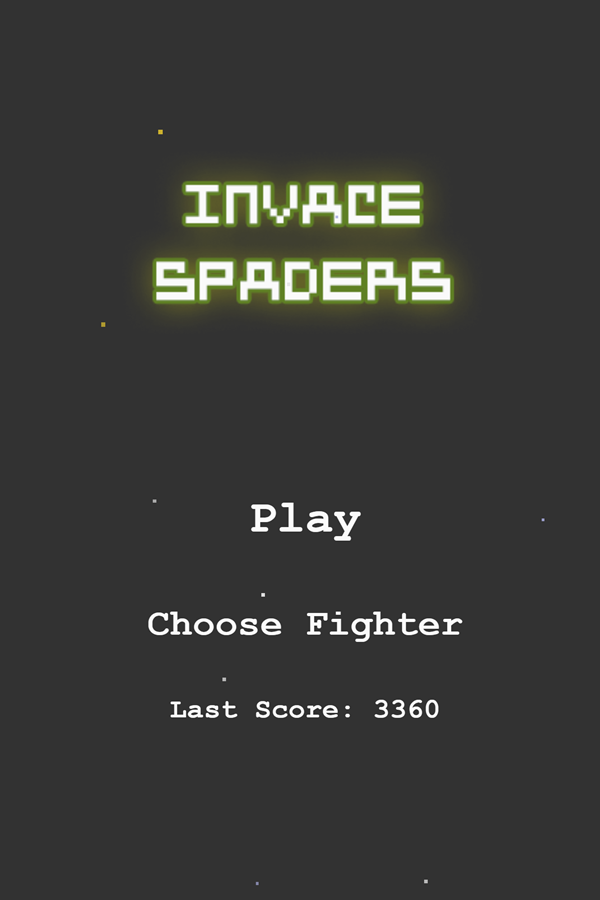 Invace Spaders Game Welcome Screenshot.