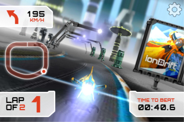 Iondrift Game Play Screenshot.