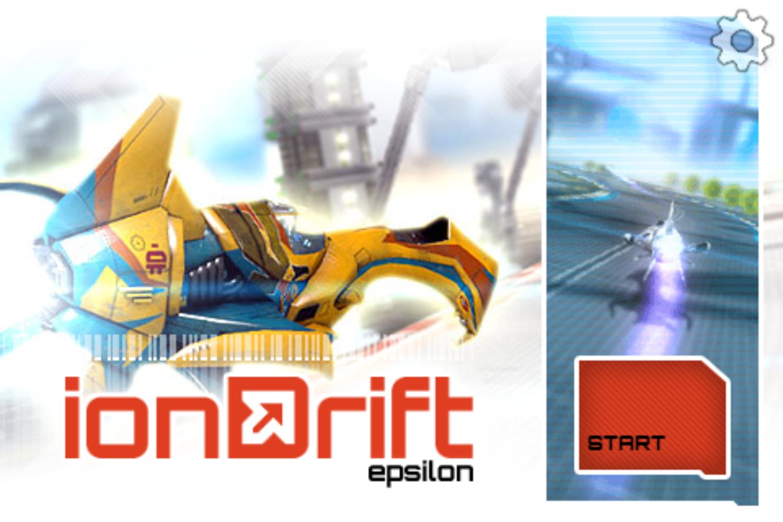 Iondrift Game Welcome Screen Screenshot.