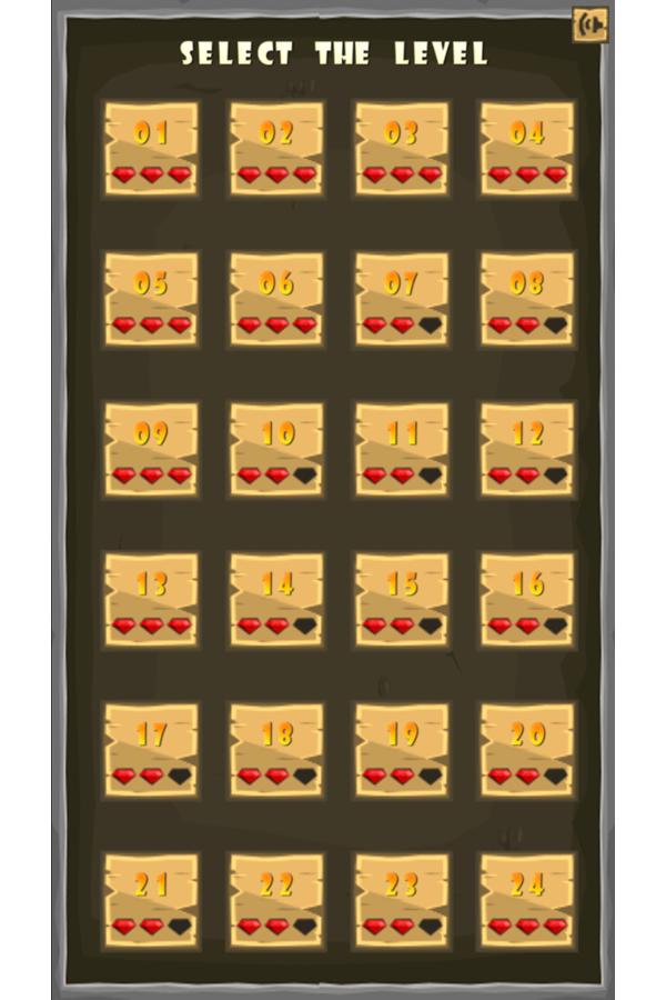 Joee Adventure Level Select Screenshot.