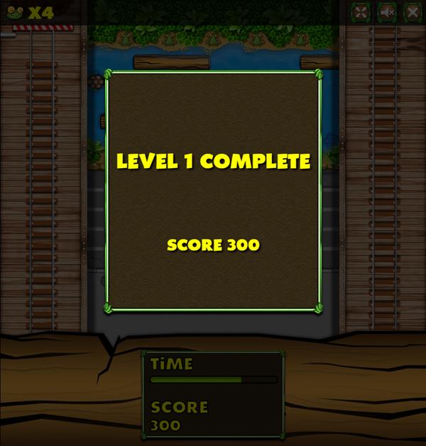 Jumper Frog Level Complete Game Screenshot.