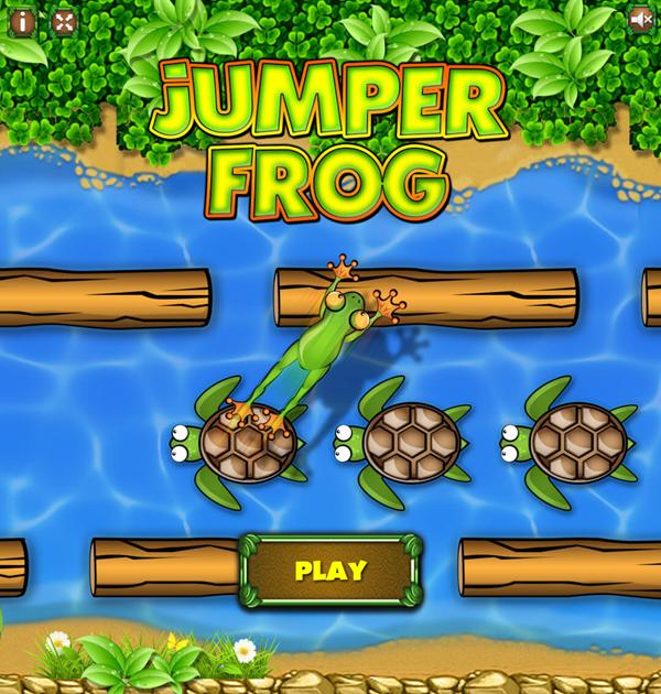 Jumper Frog Game Welcome Screenshot.