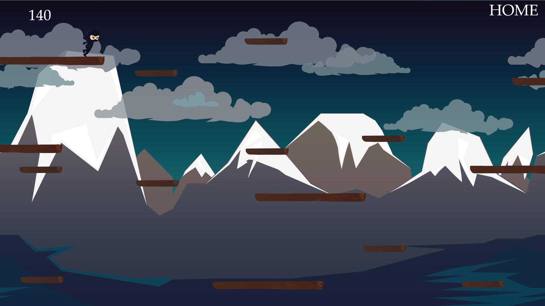 Jumping Travel of the Ninja Game Screenshot.