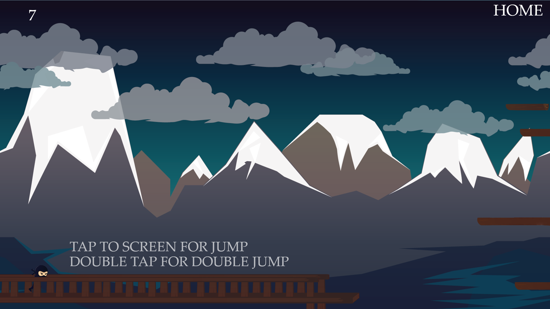 Jumping Travel of the Ninja Game Level Start Screenshot.
