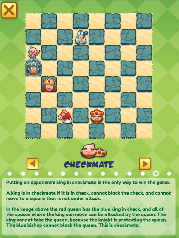 Junior Chess Checkmate Instructions Screenshot.