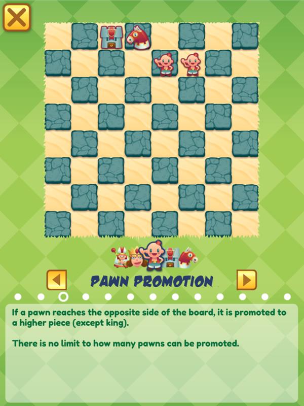 Junior Chess Pawn Promotion Screenshot.