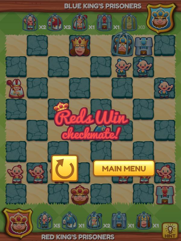 Junior Chess Red Wins Checkmate Screenshot.