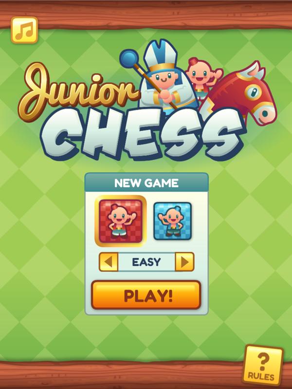 Junior Chess Welcome Screen Screenshot.
