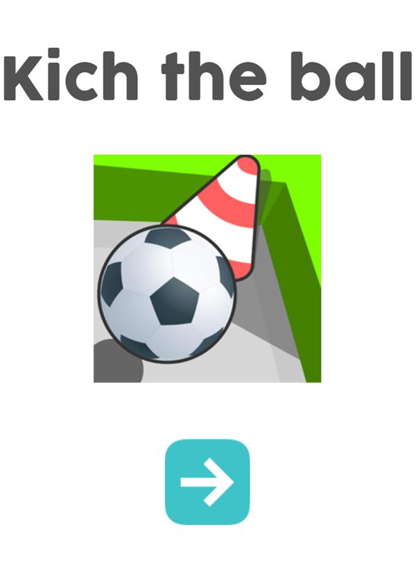Kich the Ball Welcome Screen Screenshot.