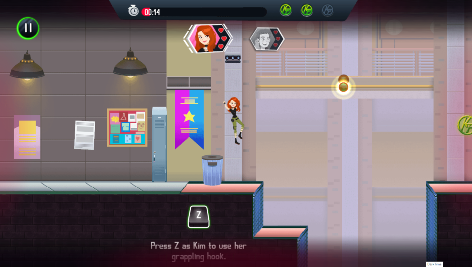 Kim Possible Mission Improbable Game How To Grappling Hook Screenshot.