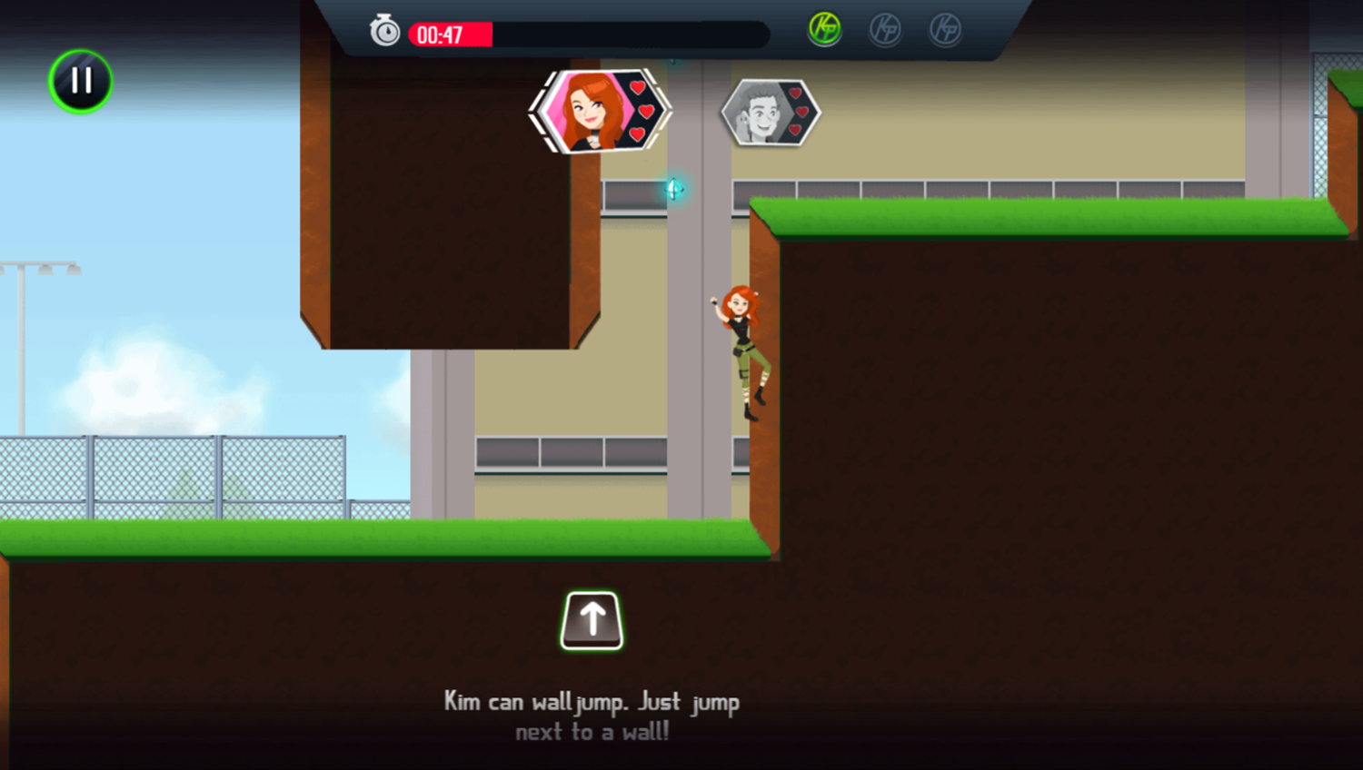 Kim Possible Mission Improbable Game How To Wall Jump Screenshot.