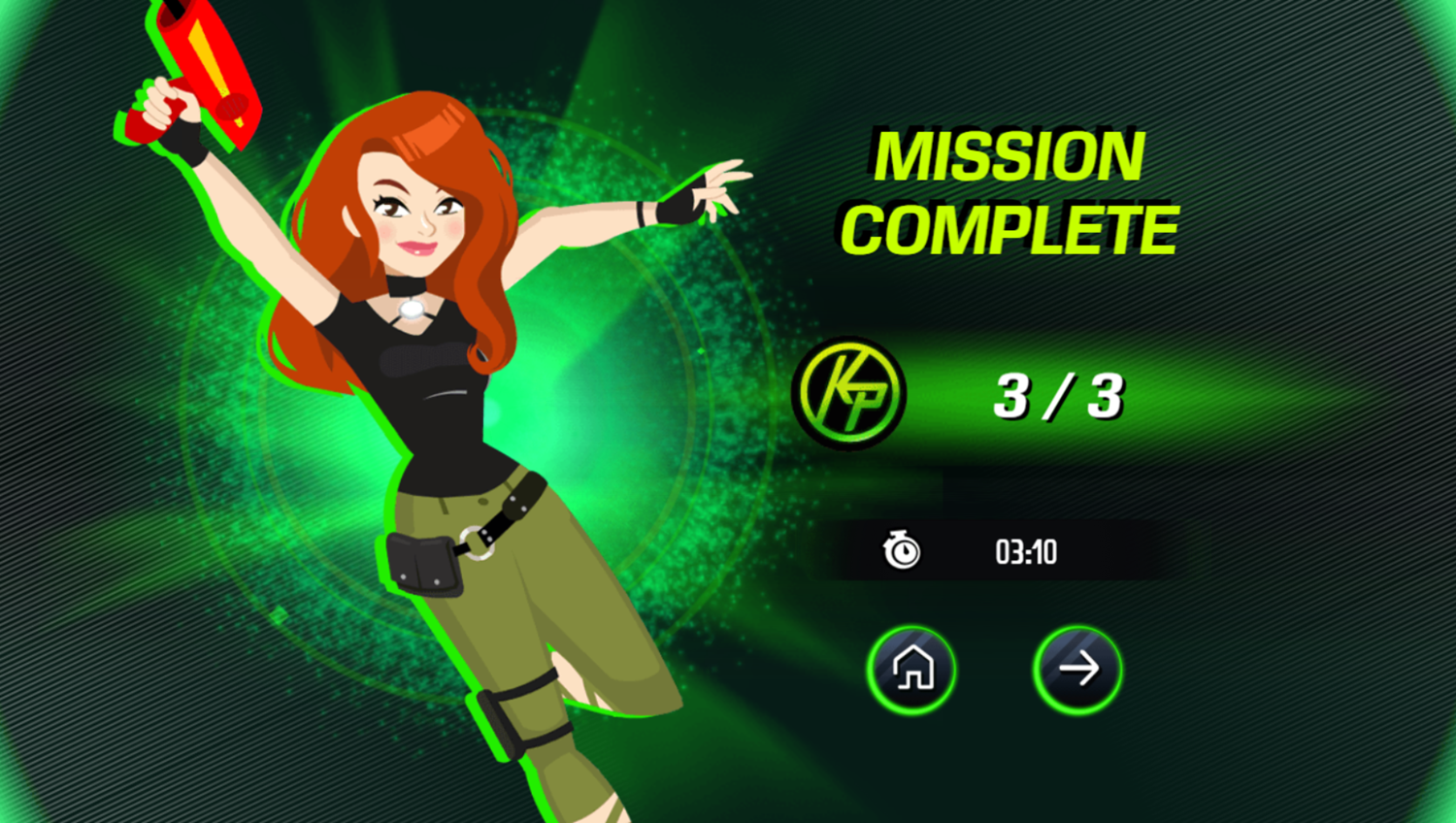 Kim Possible Mission Improbable Game Mission Complete Screenshot.