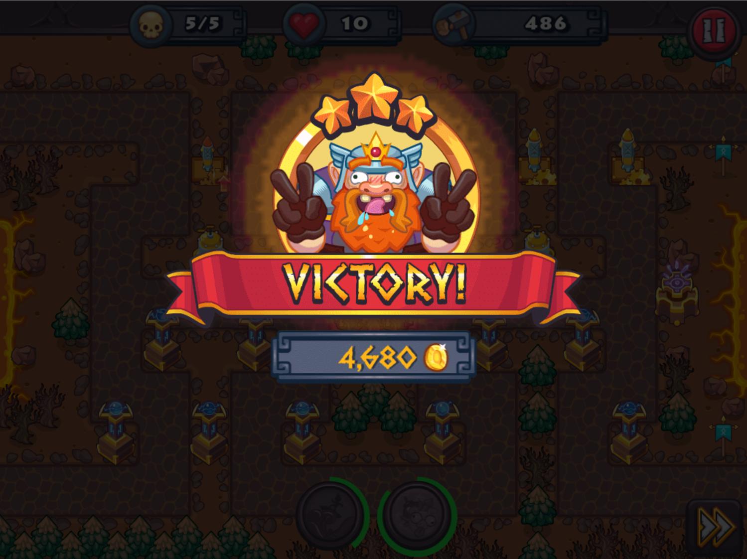 King Rugni Final Level Beat Screenshot.