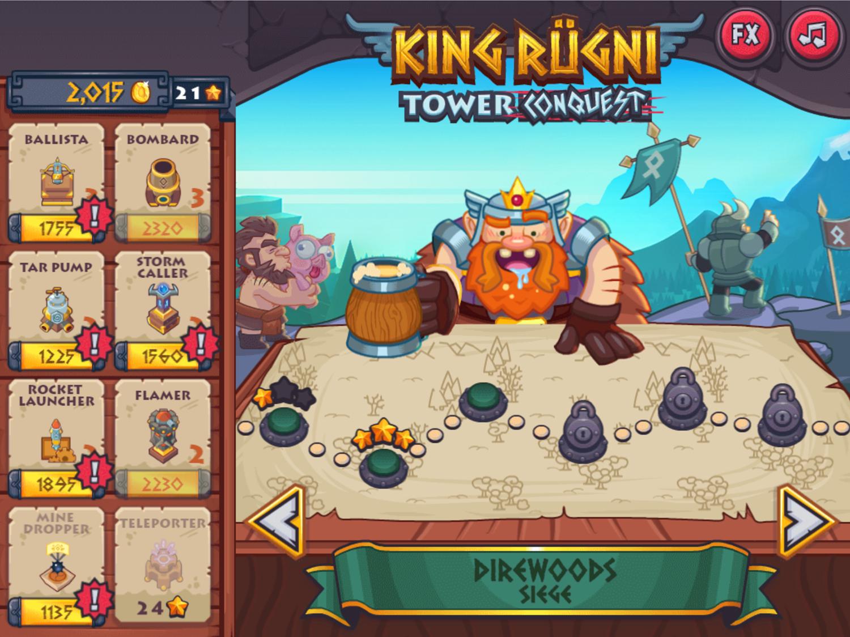 King Rugni Welcome Screen Game Overview Screenshot.