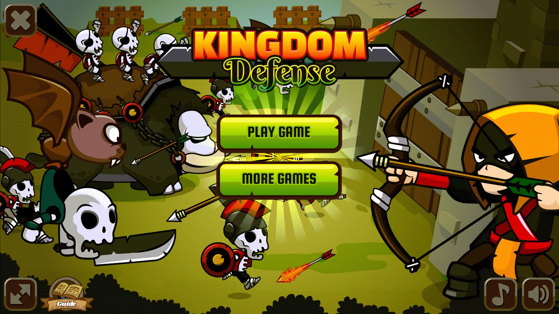 Kingdom Defense Welcome Screen Screenshot.