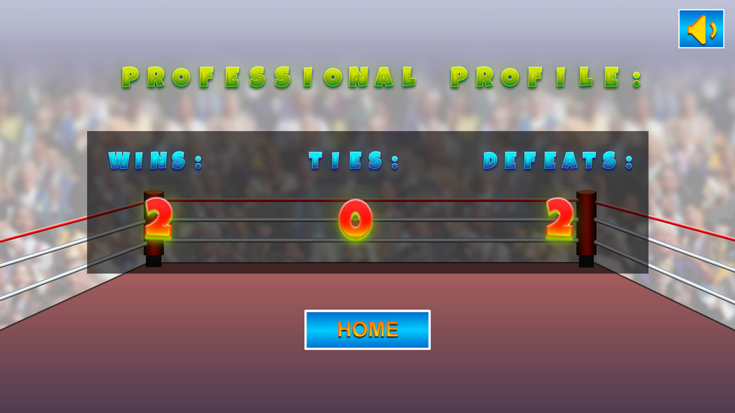 Knock Out Boxing Fighting Record Screenshot.