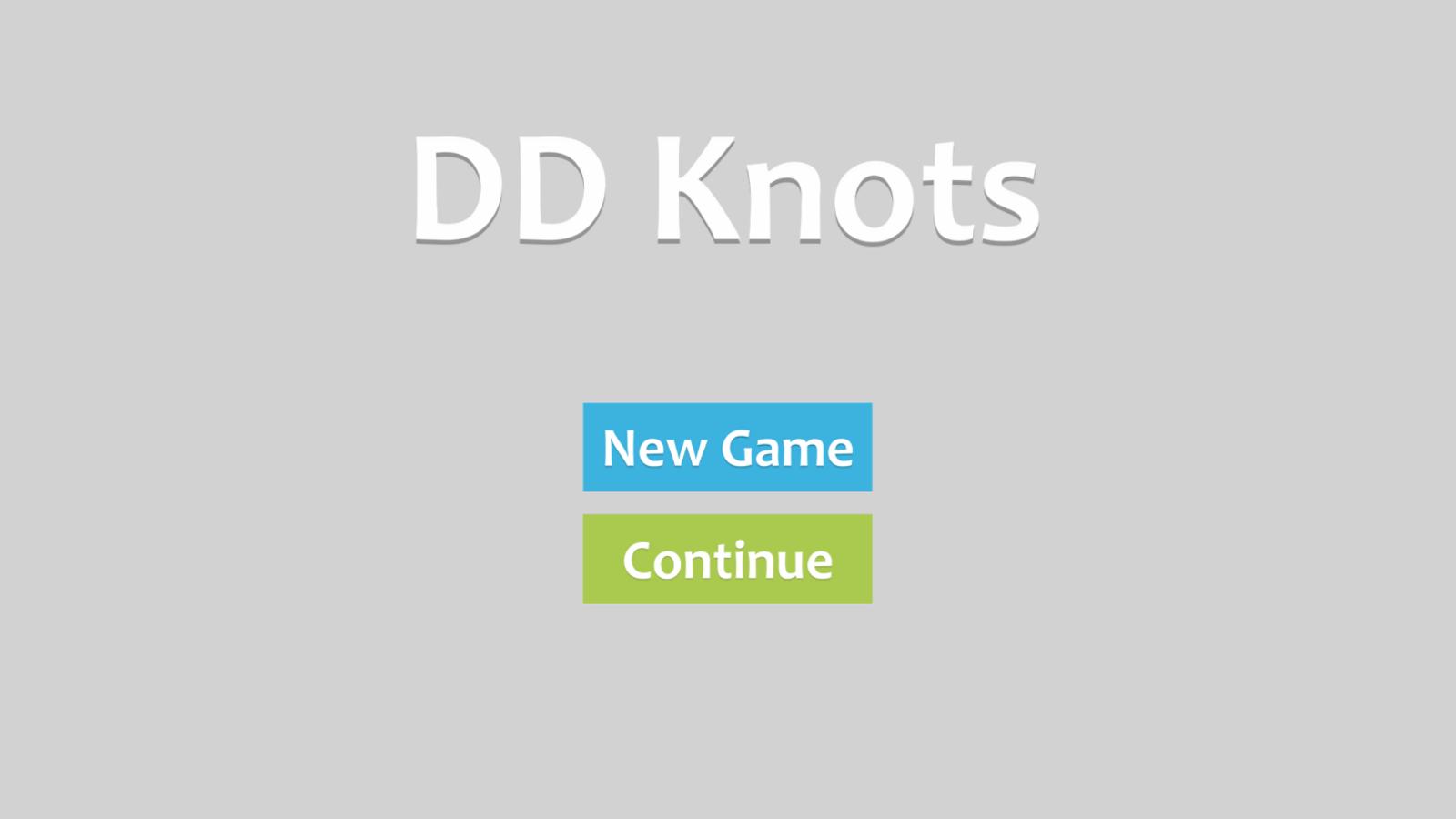 Knots Game Welcome Screenshot.