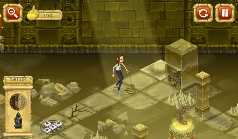 Legends of the Hidden Temple Unlock the Past Game Final Level Screenshot.