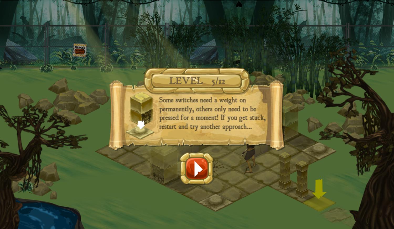 Legends of the Hidden Temple Unlock the Past Game Tips Screenshot.