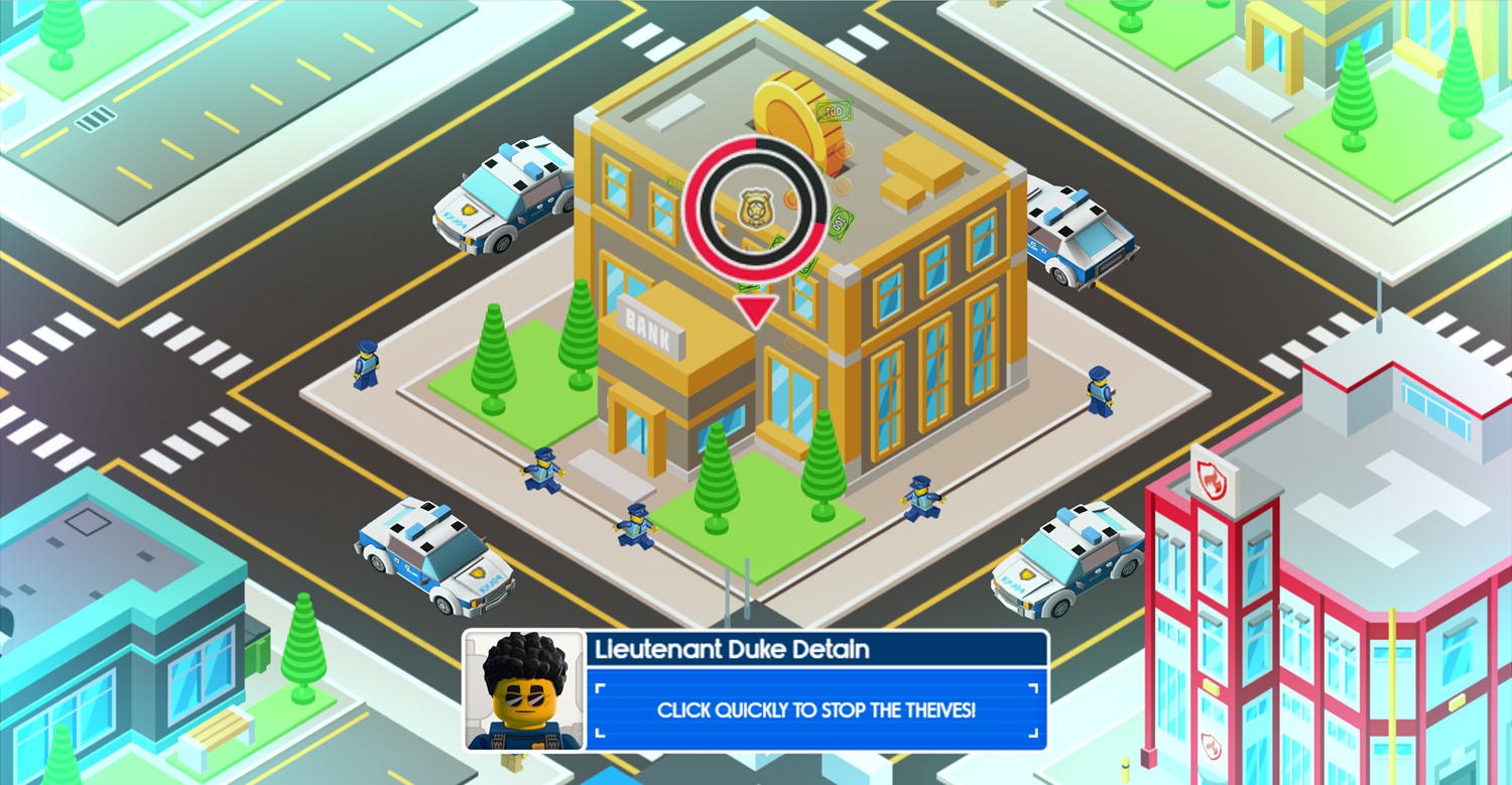 Lego City Adventures Build and Protect Robbery Screenshot.