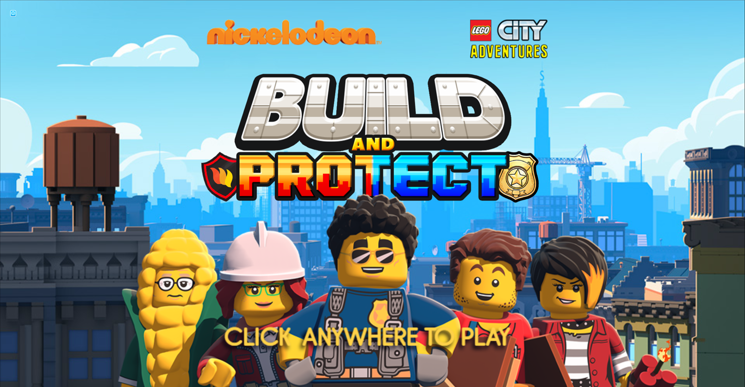 Lego City Adventures Build and Protect Welcome Screen Screenshot.