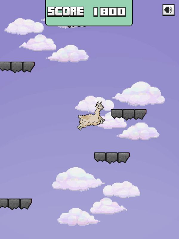 Llama Leap Game Begin Screenshot.