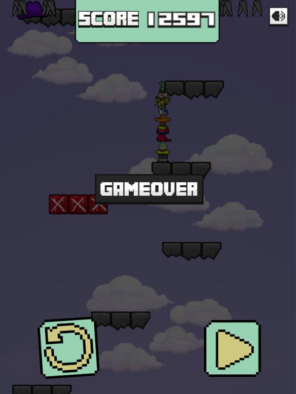 Llama Leap Game Over Screenshot.