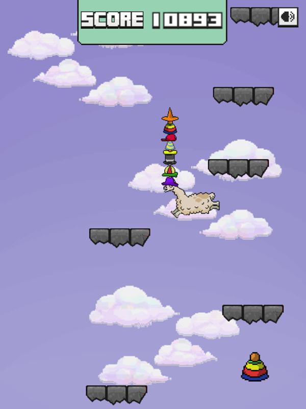 Llama Leap Game Play Screenshot.