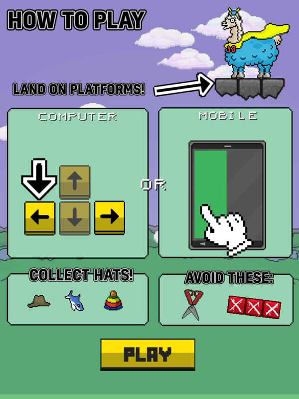 Llama Leap Game How To Play Screenshot.