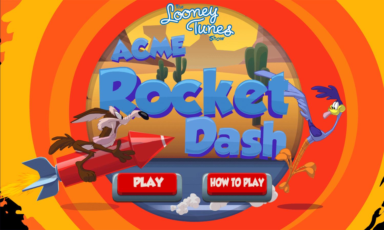 Looney Tunes Acme Rocket Dash Game Welcome Screen Screenshot.
