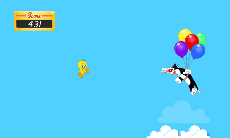 Looney Tunes Tweety Takes Off Game Play Screenshot.