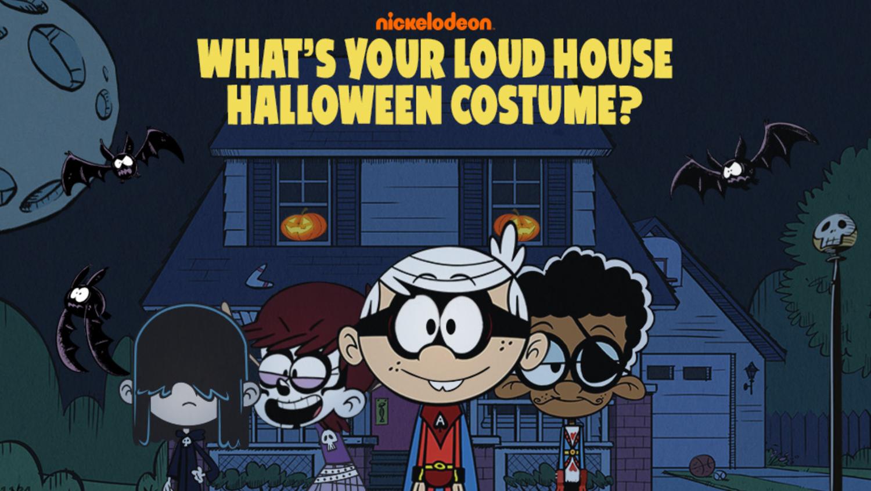 Loud House What's Your Loud House Halloween Costume Game Welcome Screen Screenshot.