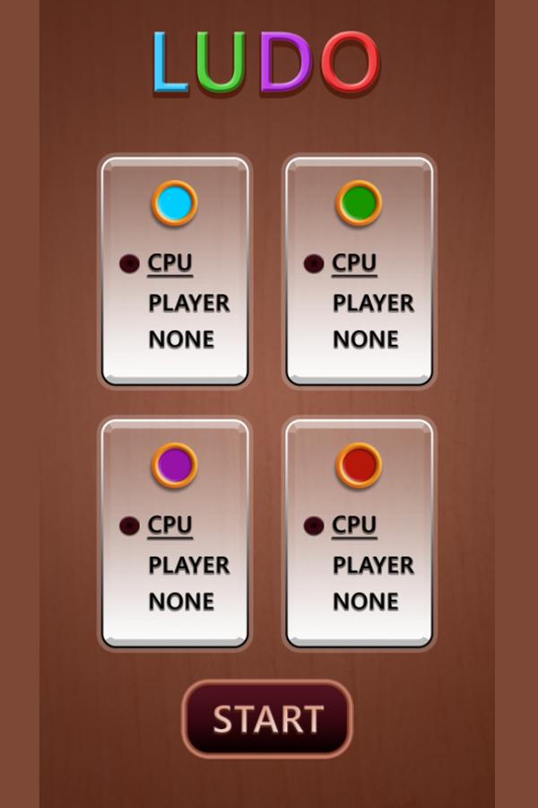 Ludo Game Welcome Screenshot.