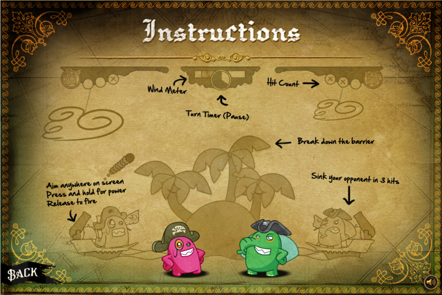 Lux Ahoy Game Instructions Screenshot.