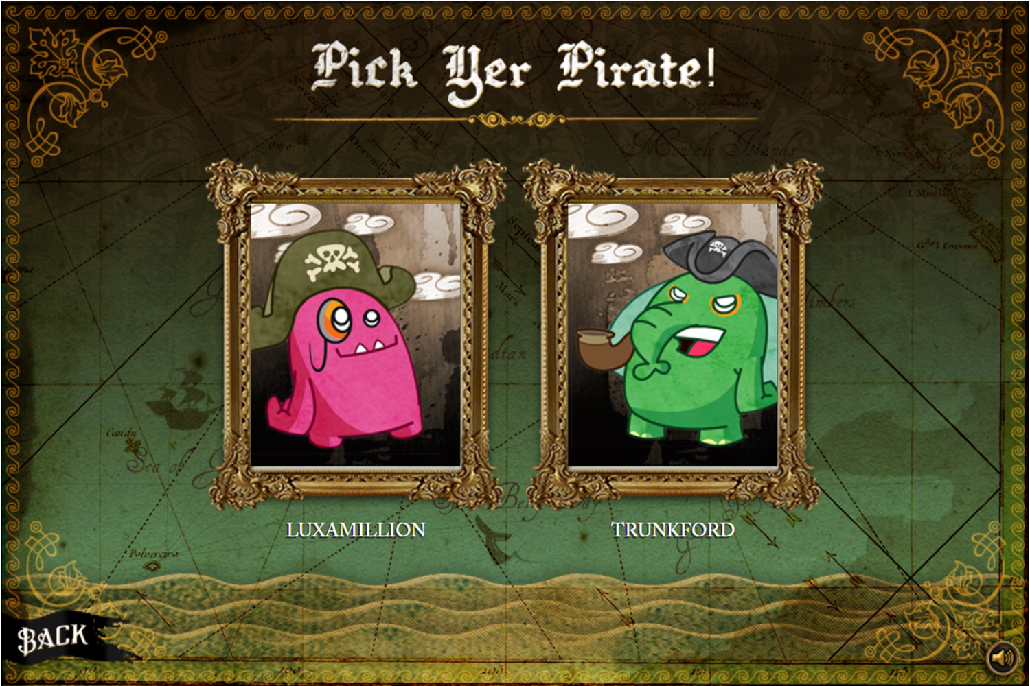 Lux Ahoy Pirate Select Screenshot.