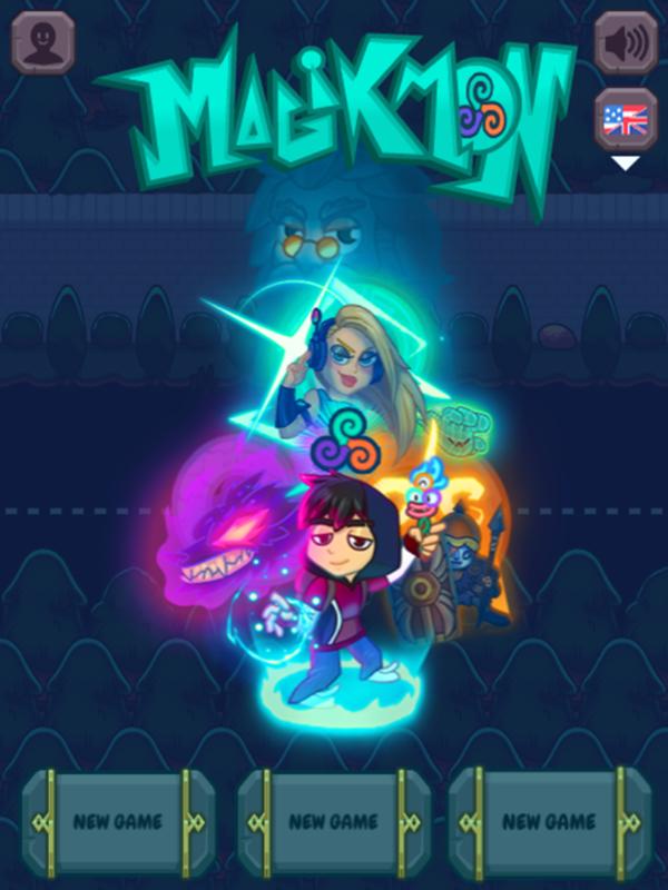 Magikmon Game Welcome Screen Screenshot.