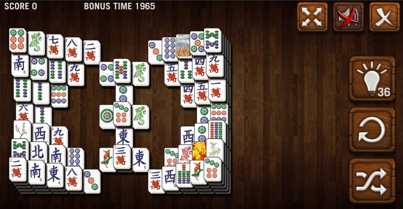 Mahjong Deluxe Game Arena Level Screenshot.