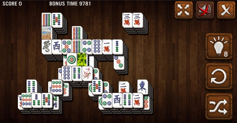 Mahjong Deluxe Game Colossus Level Screenshot.