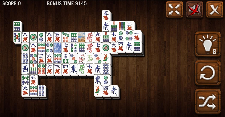 Mahjong Deluxe Game Dog Board Level Screenshot.