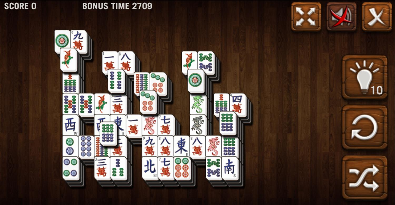 Mahjong Deluxe Game Hanging Gardens Level Screenshot.