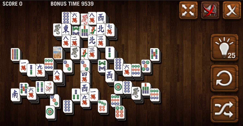 Mahjong Deluxe Game Octopus Level Screenshot.